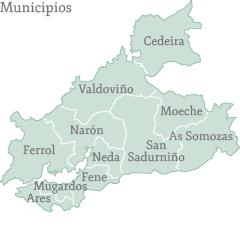 Municipios de la Comarca de Ferrol