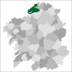 Comarca de Ferrol en Galicia
